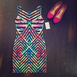💕Wet Seal colorful bodycon dress